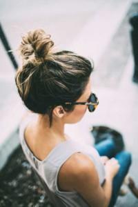 Messy-Hair-Top-Buns